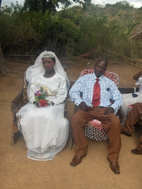 The bride and room on the high table